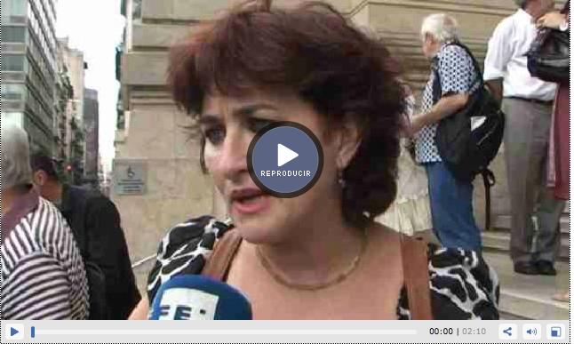 Reportaje en Argentina el 3.12.2013 tras la audiencia de los querellantes con la Jueza Servini