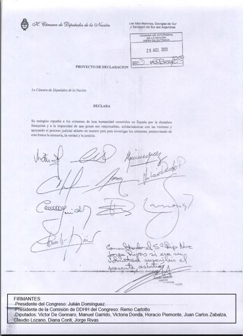 Apoyo Cámara de Diputados Argentina