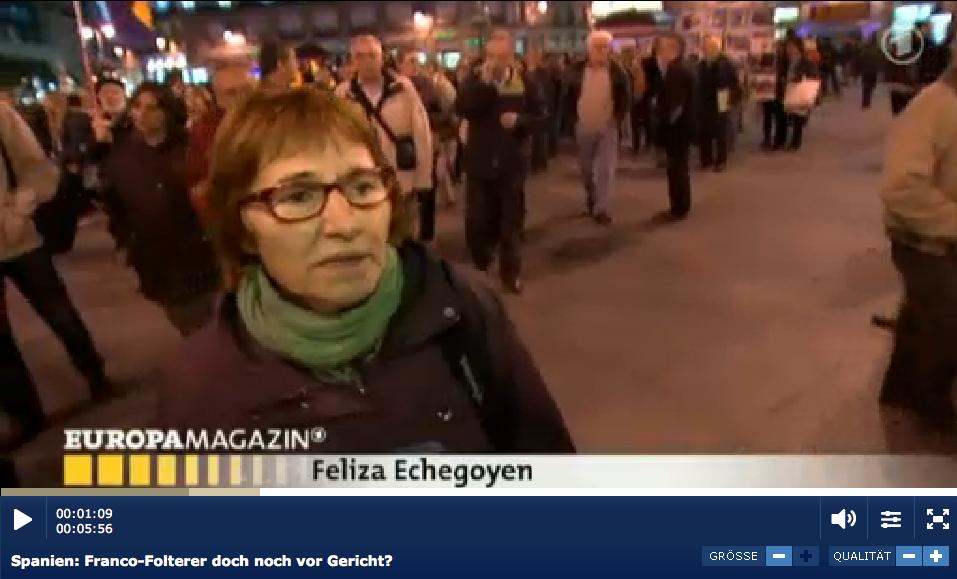Reportaje en la televisión alemana