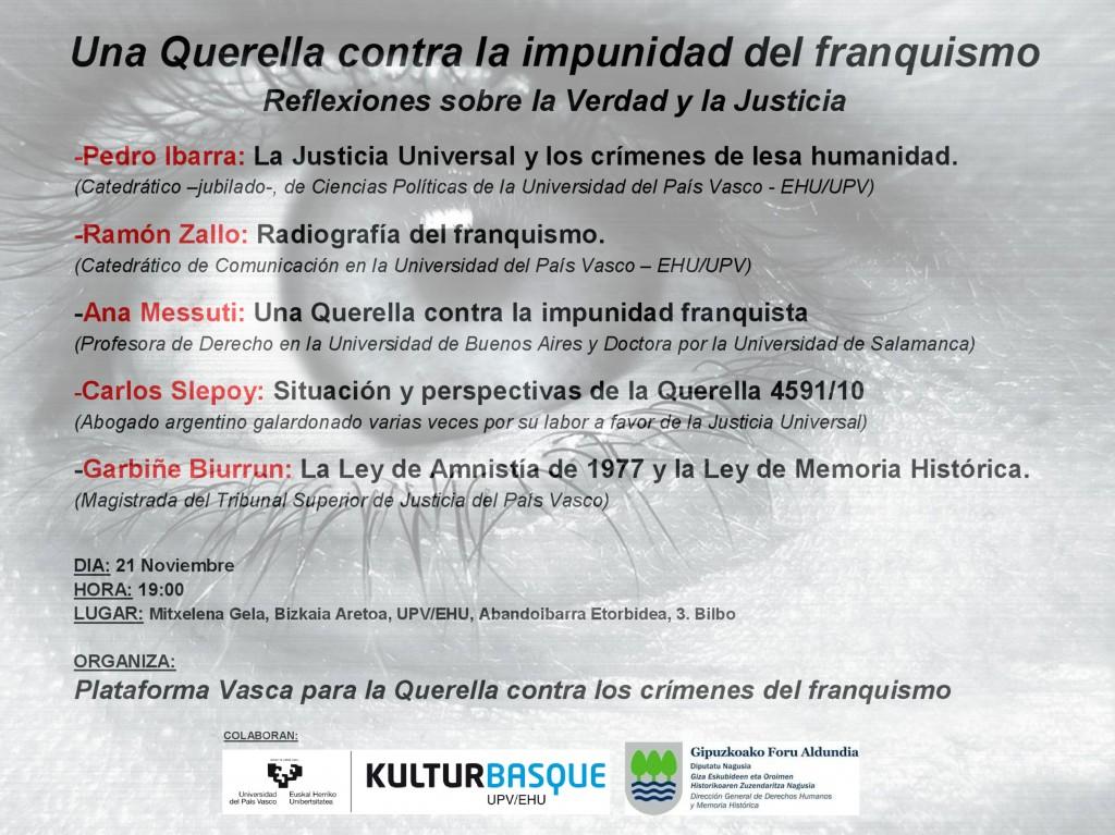 Acto querella en Bilbao 21.11.2013