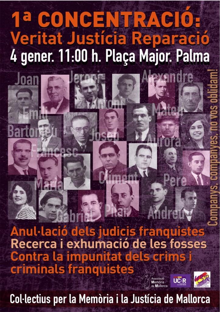 Cartel Concentración en Palma de Mallorca