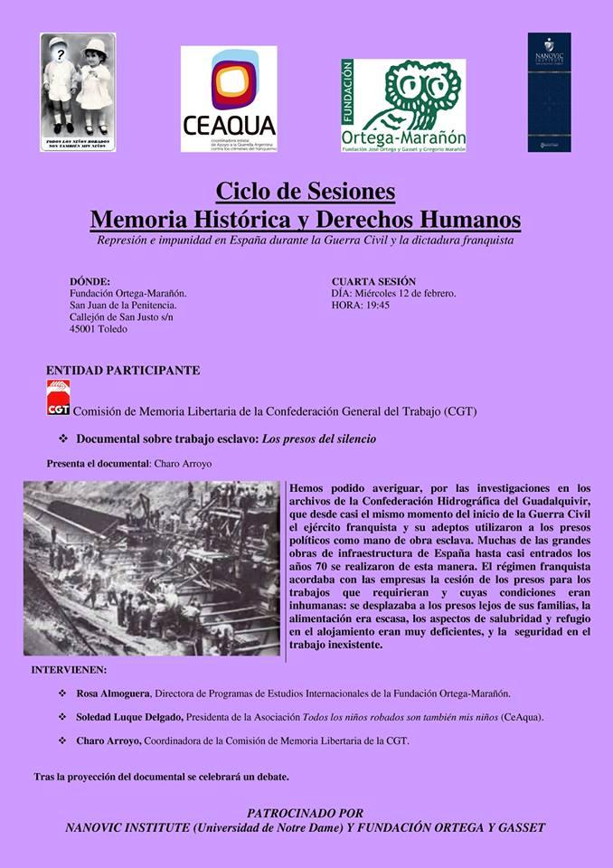 Ciclo sesiones Memoria Histórica y Derechos Humanos