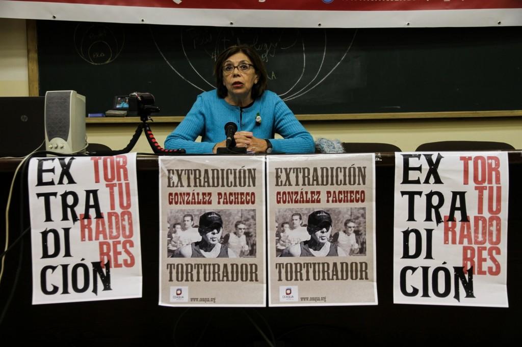 Ana Messuti en acto de presentación de la tarde