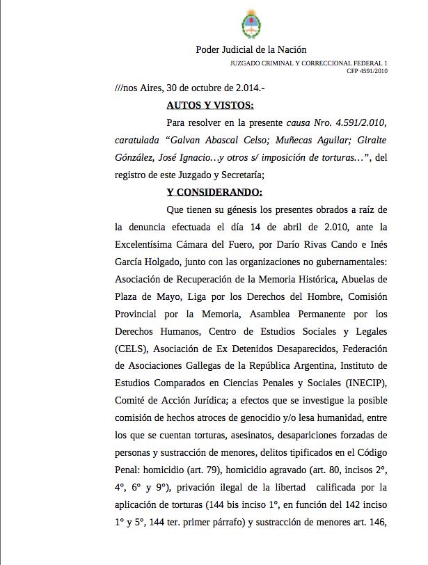 Resolución ordenes de detención
