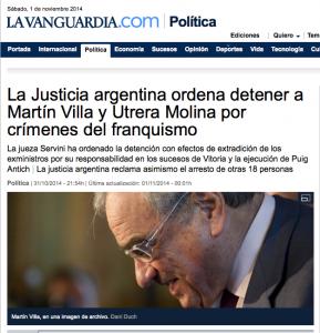 La Vanguardia 31 10 2014