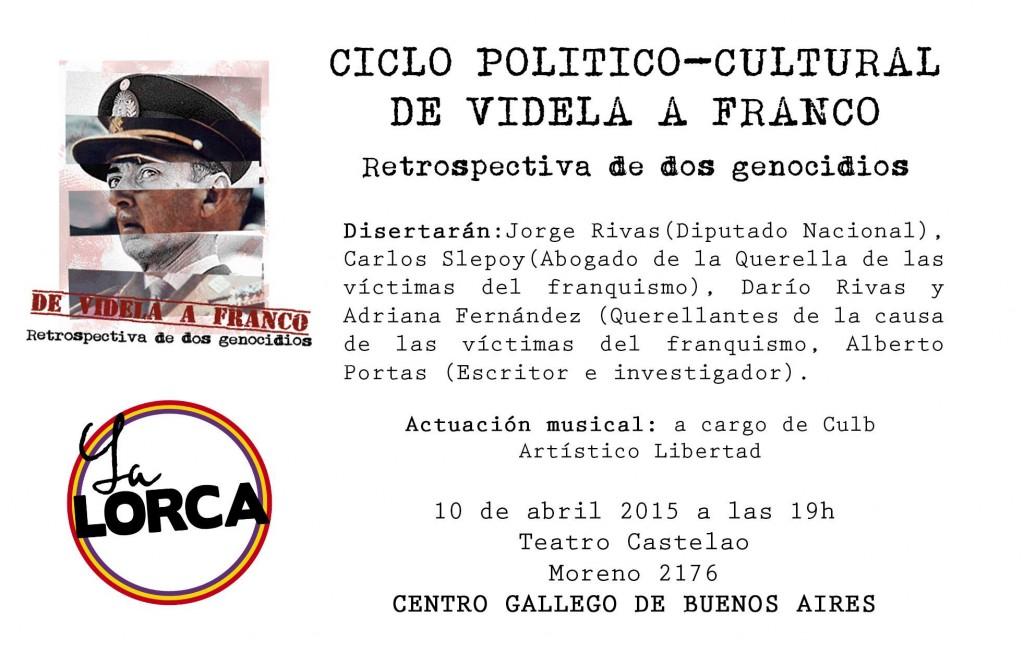 Ciclo de Videla a Franco La Lorca