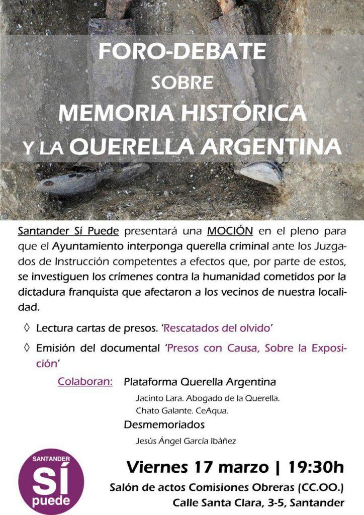 Cartel charla Santander