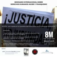 Sesión del Seminario Internacional sobre DDHH, mujer y franquismo