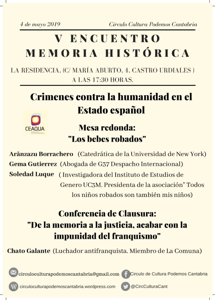 CeAqua participa en las V Jornadas de Memoria Histórica de Castro Urdiales que se celebran el 4 de junio